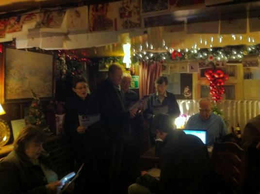 Carols in the Pink Pub
